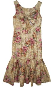 Dennis Goldsmith short dress Floral Vintage Fishtail Bow on Tradesy