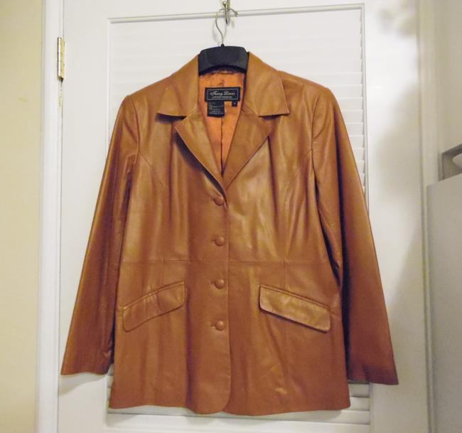 Terry Lewis Classic Luxuries Rust Leather Jacket Image 1