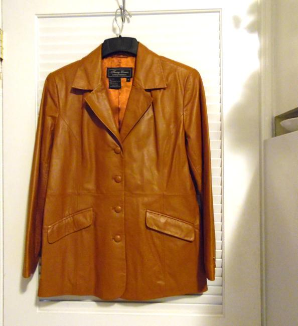 Terry Lewis Classic Luxuries Rust Leather Jacket Image 2