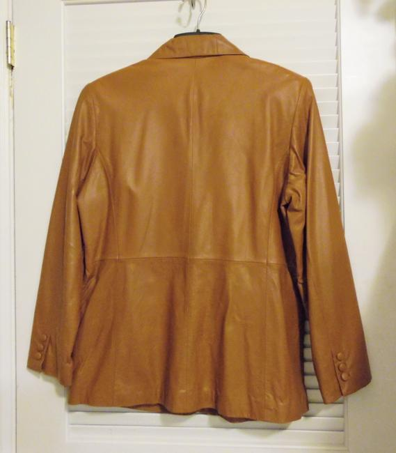 Terry Lewis Classic Luxuries Rust Leather Jacket Image 3