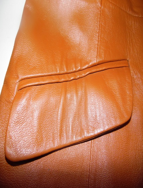 Terry Lewis Classic Luxuries Rust Leather Jacket Image 4