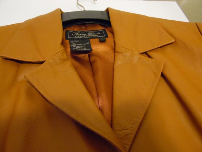 Terry Lewis Classic Luxuries Rust Leather Jacket Image 6
