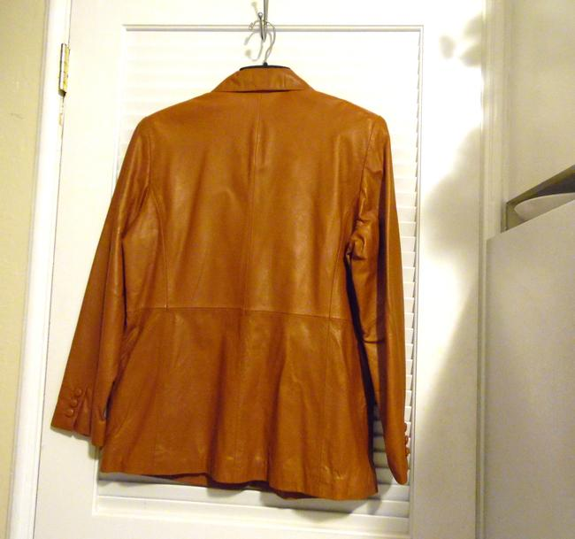 Terry Lewis Classic Luxuries Rust Leather Jacket