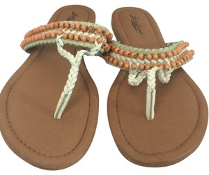 Lucky Brand White/peach/teal Sandals