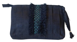 Mar Y Sol Designer Navy Clutch