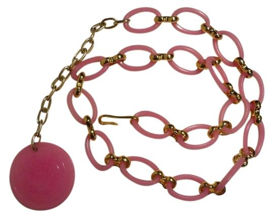 Preload https://item2.tradesy.com/images/pink-and-gold-vintageretro-chain-belt-1505261-0-0.jpg?width=440&height=440