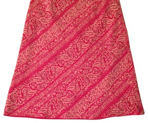 Ann Taylor Mini Skirt coral with lavender highlights