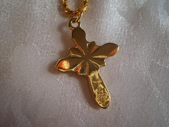 Other Like new Goldtone cross w/7 stones necklace