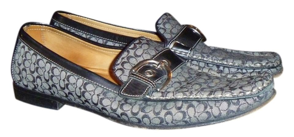 ab21c7d22da Coach Black Gray And Signature Loafers 8.5m Flats. Size  US 8.5 Regular ...