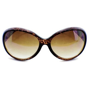Panama Jack NWT Rounded Large Sunglasses w Scratch Resistant Lenses & Soft Case