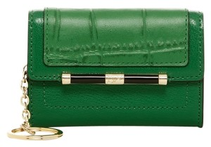 Diane von Furstenberg New! DVF 440 Leather Card Case Wallet w/Key Chain, Green, A1144063N14