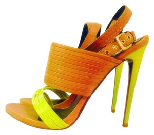 Donald J. Pliner Cognac and Citron Sandals