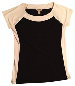 Banana Republic Top Black/White Color Block