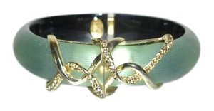 Alexis Bittar ALEXIS BITTAR Lucite & Crystal Lace Hinged Bangle Sage Green