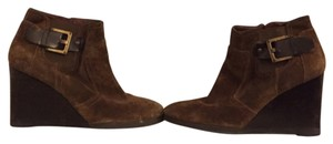Franco Sarto Tan/Brown Suede Boots