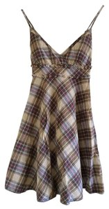Free People short dress Multi Plaid/tartan Babydoll on Tradesy