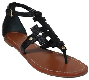 Tory Burch Flat Thong Black Sandals