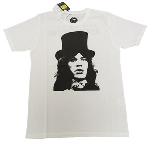 Hysteric Glamour Men's Rolling Stones Rock And Roll Organic Cotton T Shirt White