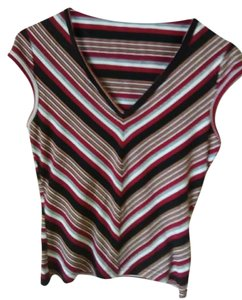 A. Byer T Shirt Striped (black, red, white, gray)