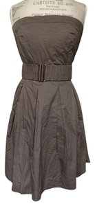 Mustard Seed short dress brown Strapless Belted on Tradesy