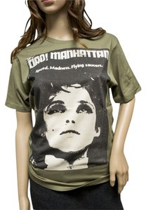 Hysteric Glamour Edie Sedgwick Andy Warhol Retro Women's T Shirt Olive Green
