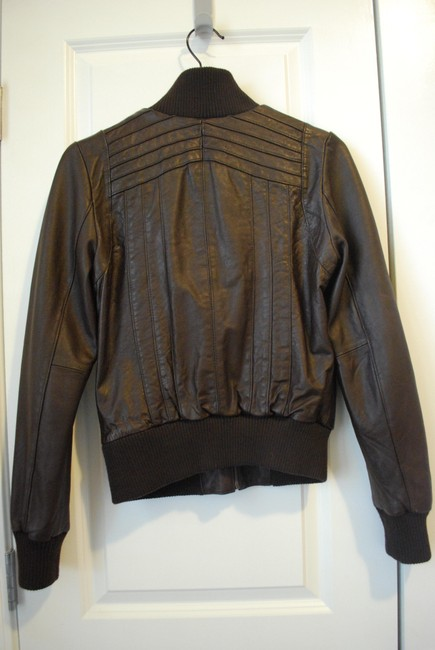 Leather Bomber Jacket S Small Brown Leather Jacket