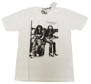 Hysteric Glamour Johnny Thunders New York Dolls 80s Drag T Shirt White