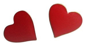 Betsey Johnson Betsey Johnson Heart Stud Earrings Red E602
