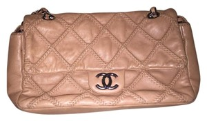 Chanel Vintage Beige Shoulder Bag