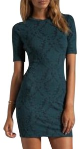 Eight Sixty short dress Black and teal on Tradesy