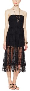 Free People Embroidered Convertible Floral Mesh Sheer Dress