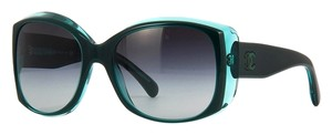 Chanel Chanel Signature 5227H Sunglasses (Black/ Green Transparent)