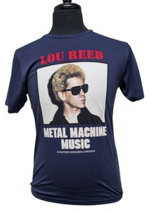 Hysteric Glamour Lou Reed Rock Rock And Roll Organic Cotton Men's Medium Shirt T Shirt Blue