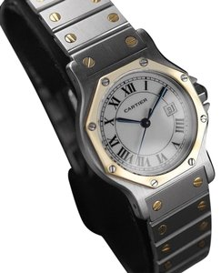 Cartier Cartier Santos Octagon Mens Midsize Watch, Automatic - Stainless Steel & 18K Gold