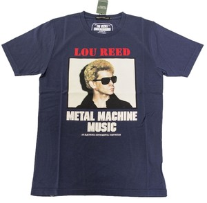 Hysteric Glamour T-shirt Men's Navy Reed Rock And Roll T Shirt Blue