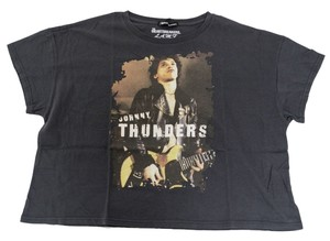 Hysteric Glamour Johnny Thunders Heartbreakers Rock And Roll T Shirt Gray