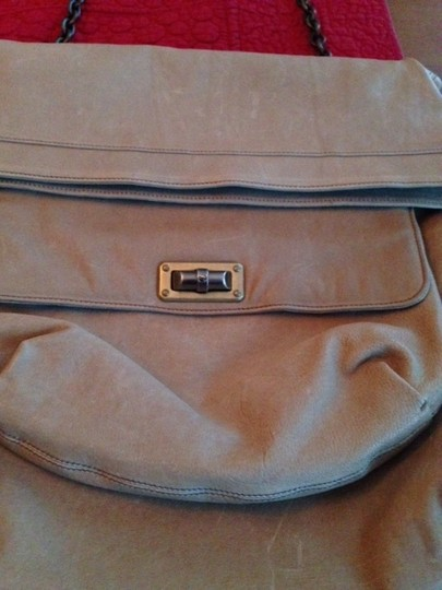 Lanvin French Chain Handle Leather Tote Shoulder Bag