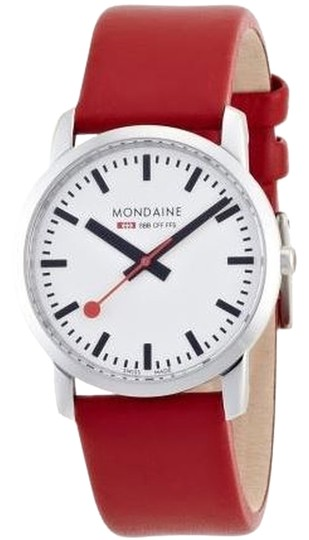 Preload https://img-static.tradesy.com/item/1505632/mondaine-red-simply-elegant-ladies-watch-0-0-540-540.jpg