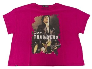 Hysteric Glamour Women's Johnny Thunders T Shirt Pink