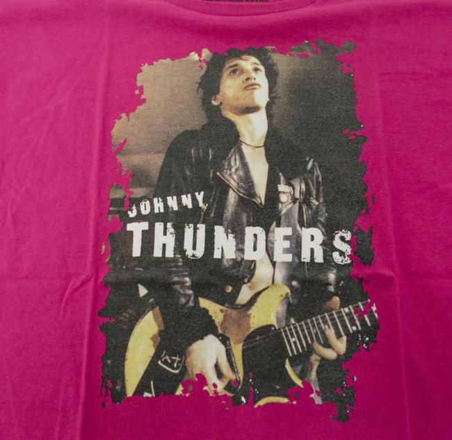 Hysteric Glamour Women's Johnny Thunders Heartbreakers Rock And Roll T-shirt T Shirt Pink