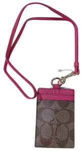 Coach Coach Brown Lanyard, Badge ID Credit Card Holder