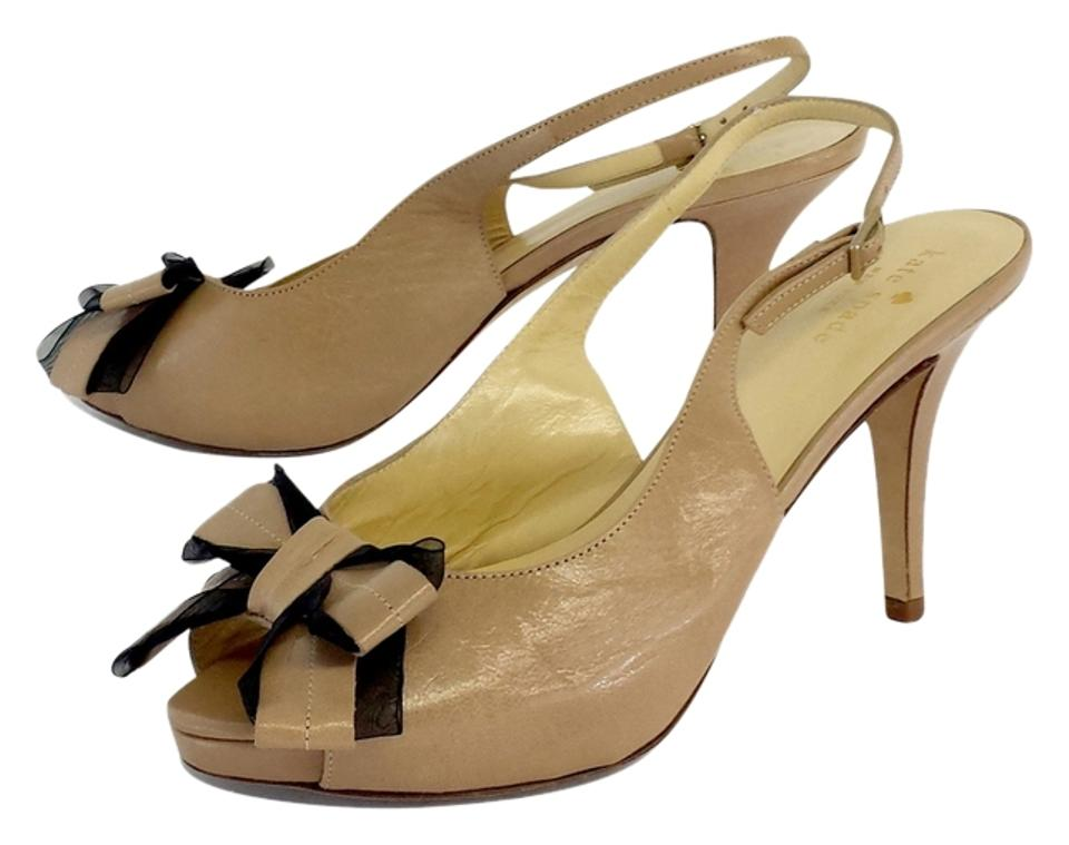 b53003464af Kate Spade Tan Tulle   Leather Bow Heels Sandals Size US 8 - Tradesy