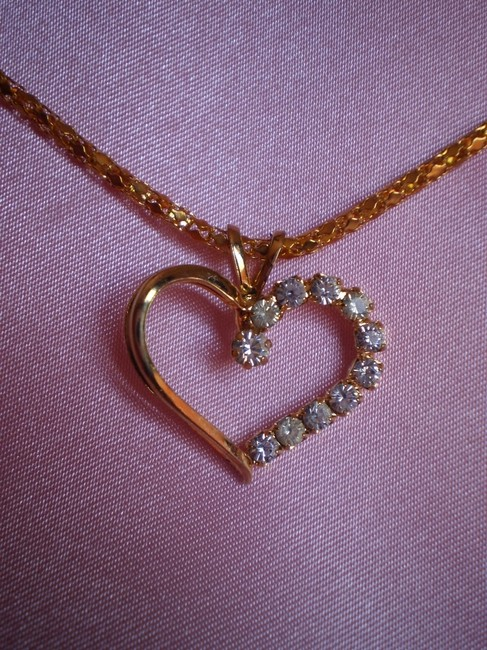 Gold Heart W/Crystals Necklace Gold Heart W/Crystals Necklace Image 2