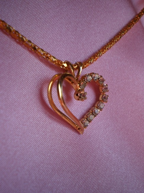 Gold Heart W/Crystals Necklace Gold Heart W/Crystals Necklace Image 5