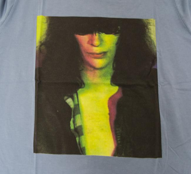 Hysteric Glamour Women's Joey Ramone The Ramones Rock And Roll T Shirt Blue