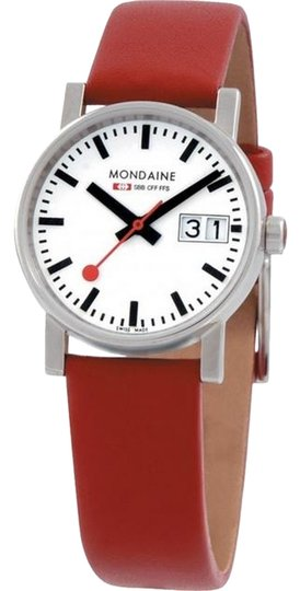 Mondaine Mondaine Red Ladies Big Date Watch