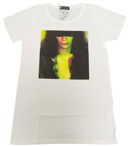 Hysteric Glamour Women's Joey Ramone The Ramones T Shirt White
