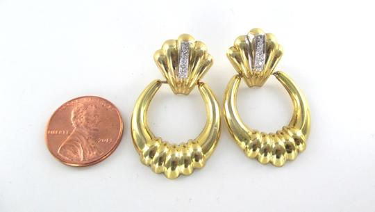 Other 14KT SOLID YELLOW GOLD EARRINGS 6 DIAMONDS .12 CARAT 4.8 GRAMS FINE JEWELRY Image 4