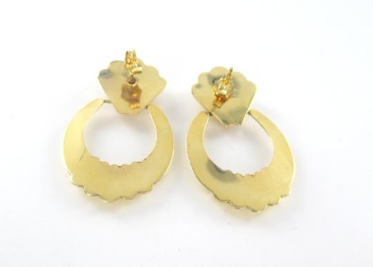 Other 14KT SOLID YELLOW GOLD EARRINGS 6 DIAMONDS .12 CARAT 4.8 GRAMS FINE JEWELRY Image 5