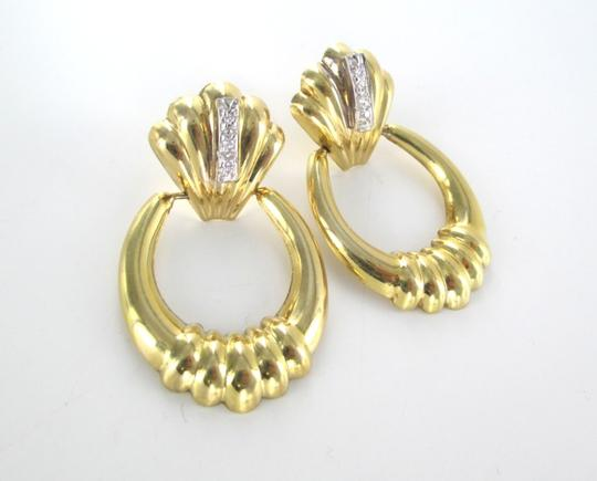 Other 14KT SOLID YELLOW GOLD EARRINGS 6 DIAMONDS .12 CARAT 4.8 GRAMS FINE JEWELRY Image 7